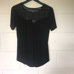 Old Navy Black Lace Shirt
